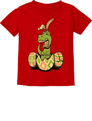 T-Rex Bunny Easter Egg Funny Gift for Easter Toddler/Infant Kids T-Shirt 3T Red]()