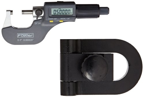 - Fowler 54-860-777 IP54 Digital Micrometer and Stand Inspection Set, 0-1