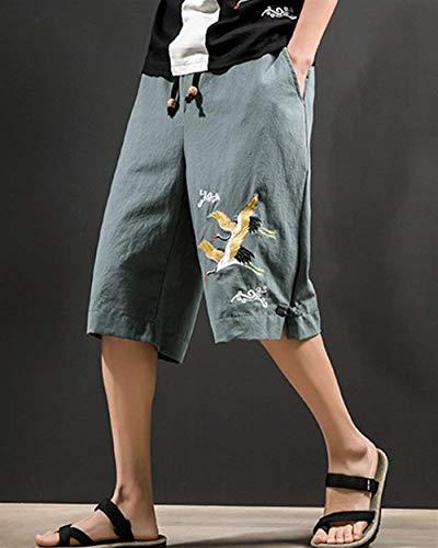 Pantaloni grün Elastici Armee Ricamati 3 Casual Spiaggia Capri Completo Da Vita 4 Estivi Targogo In 1wqg4g