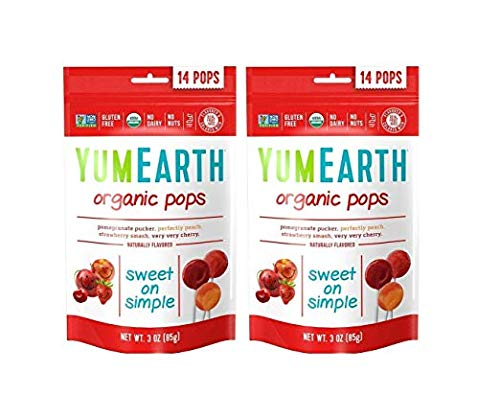 (YumEarth YummyEarth - YumEarth Organic Lollipops, 8.5 Ounce Bag  (Pack of 2))