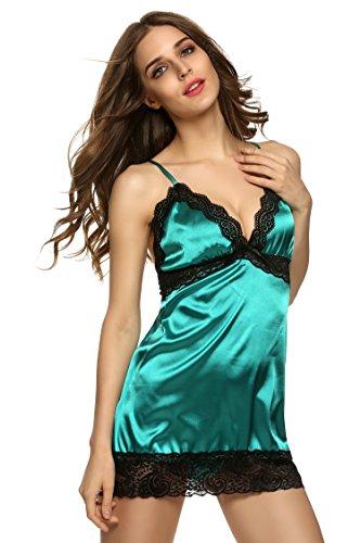 scollo sexy Pigiami Donne v camicie profondo da Verde cooshional notte a q6gCnCd