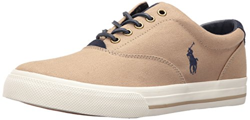Khaki Mens Shoes - Polo Ralph Lauren Men's Vaughn-SK, Khaki, 11 D US