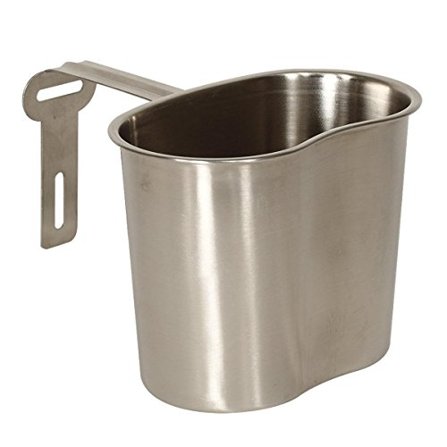 Mil-Spec Adventure Gear Plus MSA02-0124055000 WWII Style Canteen Cup, Stainless Steel