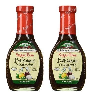 Balsamic Vinaigrette - Maple Grove Farms Sugar Free Balsamic Vinaigrette, 8 oz (Pack of 2)