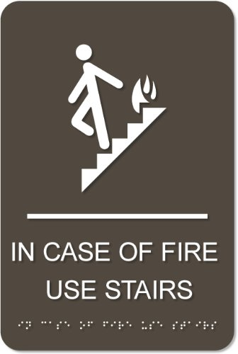 - In Case of Fire Use Stairs Sign
