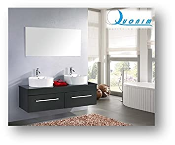 SVENDITA ECCEZIONALE COLORE NERO!!!!!!!! Mobile bagno, arredo bagno NUOVO +  2 lavandini + specchio + 2 miscelatori