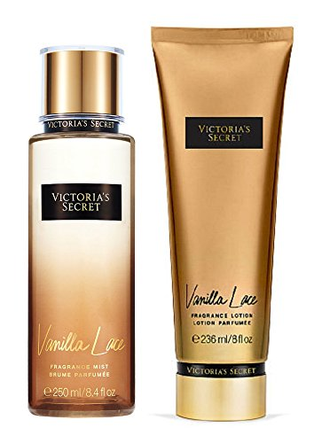 Victorias Secret Fragrance Vanilla Lace Body Lotion & Body Mist Set (Lace Vanilla Body)