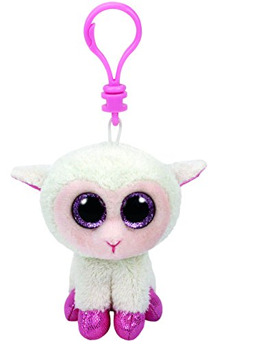 Ty Beanie Boos - TWINKLE the Lamb (Glitter Eyes) (Plastic Key Clip - 3.5 ()