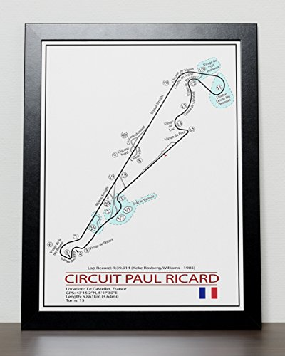 French Grand Prix Track Poster - Formula One (Ricard Poster)