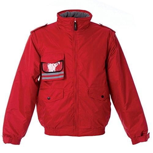 Maniche Staccabili Da Porta Rosso Giubbino Badge Imbottito Con E Finland Jrc Lavoro 066qOU