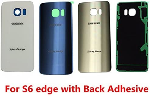 OEM Battery Back Cover Glass Panel For Samsung Galaxy S6 Edge G925A G925P G925T G925R4 G925V ~ Sapphire Black