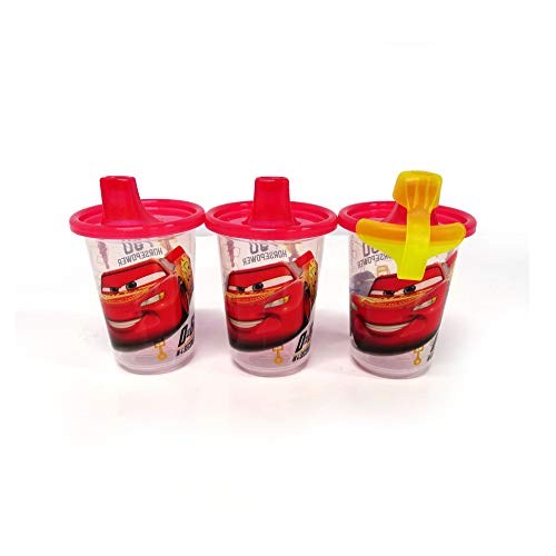 (The First Years Disney Take & Toss Sippy, 10 Ounce, 3 Pack Cars)