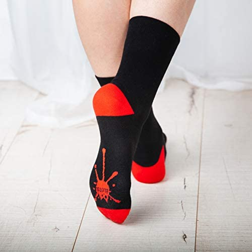 BLOTS Cute Cotton Socks for Men & Women - 5 Pack Black Orange & Colorful Cat Socks - Casual Funny Animal Socks