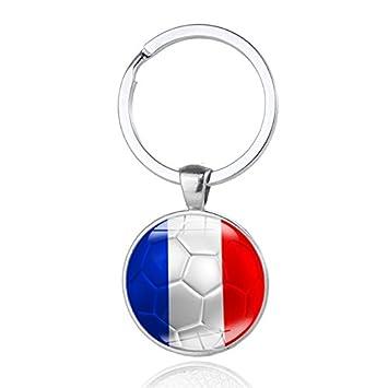 football pendentif porte cls drapeau national patriotique anneau porte cls pour coupe du monde