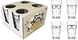 Corkology.com 425-1 Glasses Pint Pack with Matching Coaster Set, Clear
