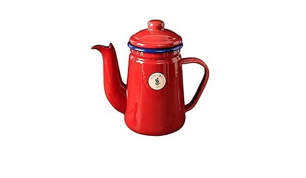 Cafetera roja Tetera Tetera Esmalte Gas Hervidor Cocina para ...