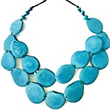 Tagua Nut Adjustable Necklace, Boho-Chic, Eco-Friendly