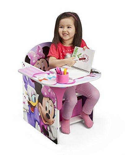 Delta Children Chair Desk With Storage Bin, Disney Minnie Mouse