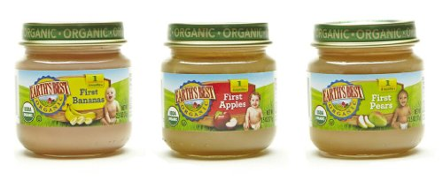 Earth's Best Organic Stage 1, My First Fruits Variety Pack, 12 Count, 2.5 Ounce Jars - Prunes Organics Stage 2