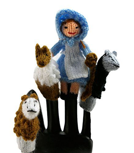 Bo-Peep and Mary Had A Little Lamb Finger Puppet Set of 4 Puppets - Fair Trade from Peru ()