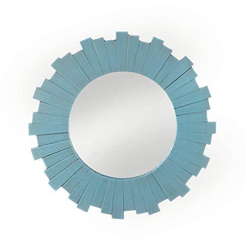 Blue Sunburst Wall Mirror Decorative Starburst Beautiful Large Bathroom, Living Room, Kitchen -