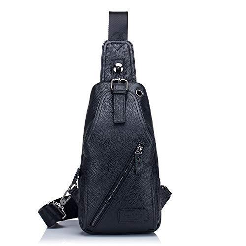 Black Bags À Cuir Bandoulière Homme Shoulder Handbags Pour En amp; Décontracté Yqxr Sac txwSq7C7T