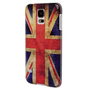 SumacLife UK Flag Plastic Snap-On Case for Samsung Galaxy S5 - Retail Packaging - Red/White/Blue