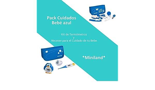 Pack Cuidados Bebé Color Azul: Neceser para el Cuidado de tu Bebé y Kit de Termómetros: Amazon.es: Bebé