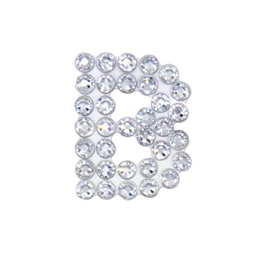 CRYART Crystal Patch Alphabet, Sticker, Decoration, Transparent Sheet, Flat Back Crystal (1 inch, 3mm Crystal, Small Size, 3ea) (B)