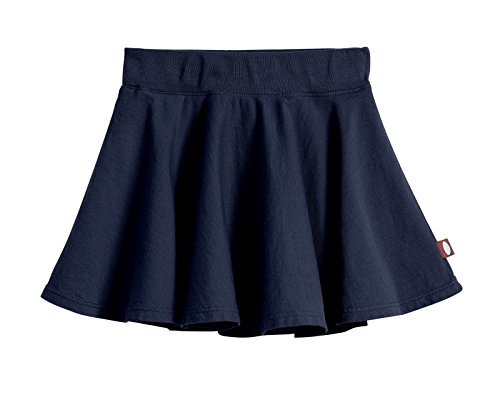 City Threads Big Girls' Cotton Twirly Skirt Perfect For Sensitive Skin/SPD/Sensory Friendly For School or Play Fall/Spring, Navy, Size - 10]()