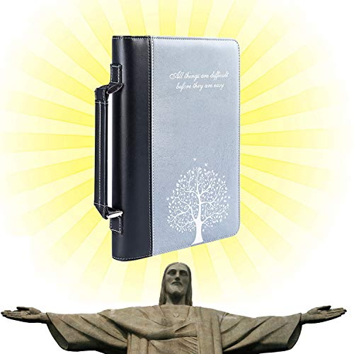 Fits my Bible and is great for being able to carry my Bible.