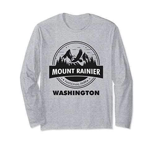 Mount Rainier National Park WA Camping Hiking Lover Long Sleeve T-Shirt