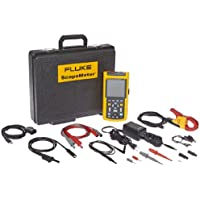 Fluke Industrial ScopeMeter 125 Handheld Digital Oscilloscope and True RMS Digital Multimeter with Recorder Function, Two Channels, 40MHz Bandwidth, 8.75ns Rise Time