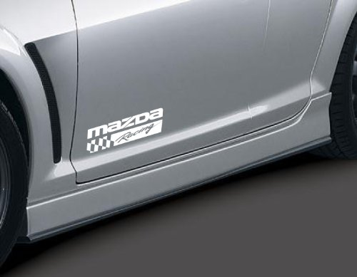 Mazda Racing 2 3 5 7 Rx7 Rx8 Miata Mazdaspeed Decal Sticker Emblem Logo Pair White