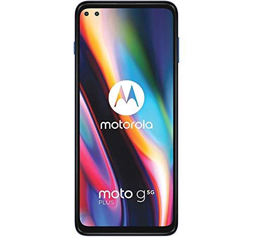 "Moto G 5G Plus (64GB, 4GB) 6.7"" FHD+, Snapdragon 765, 5000mAh Battery, Dual SIM (Euro 5G Only/Global 4G LTE) GSM Unlocked (T-Mobile, AT&T, Cricket) International Model XT2075-3 (Surfing Blue)"