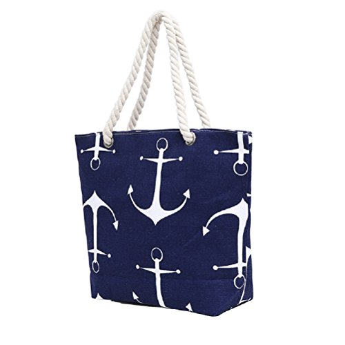 mujer Anchor de Bolso ClothingTM Blue para playa Samanthajane wRYHXqEg