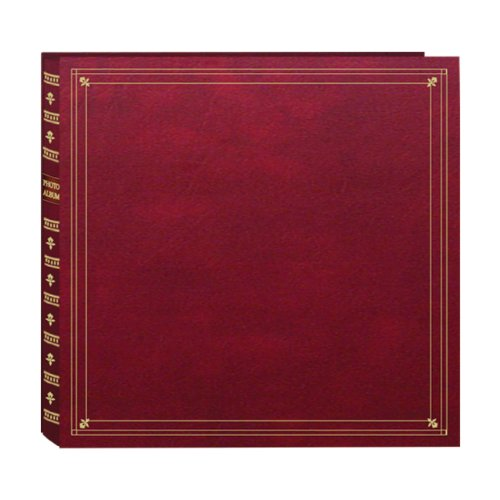 Pioneer Photo Albums 300-Pocket Post Bound Leatherette Cover Photo Album for 3.5 by 5.25-Inch Prints, Burgundy by Pioneer Photo Albums