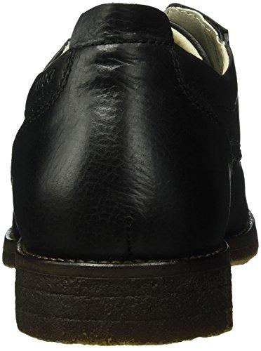 Manz Jack Ago H, Zapatos de Cordones Derby para Hombre Negro - Schwarz (schwarz 001)