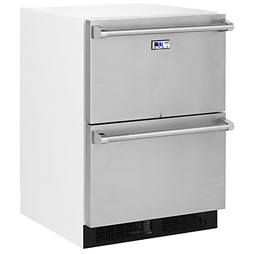 - Marvel/Div Northland MS24RDS4NS Drawer Refrigerator, 4.7 cu. ft. Capacity, White with Stainless Steel Drawers, Frost Free, 115V/60 Hz
