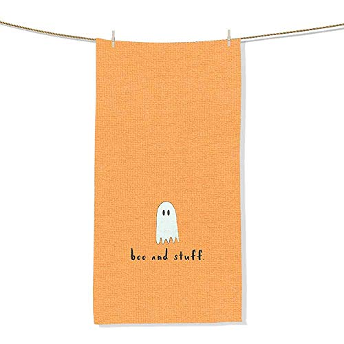 MakeHappy Custom Towels with Picture Halloween Background for Phone 27x12 inch Super Soft Absorbent
