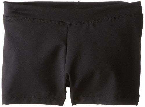 [Capezio Big Girls' Boy Cut Low Rise Short,Black,M (8-10)] (Dance Costumes Kids Jazz)