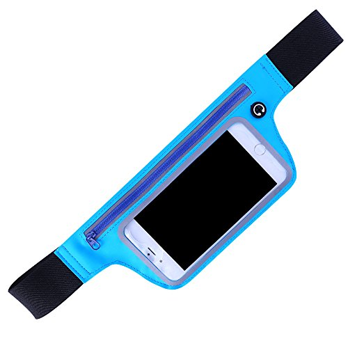 SURBEST Running Water Resistant Waist Bag, Touch Screen Running Belt for for Running Hiking Cycling Climbing. And for iPhone, iPod, Samsung and Other Smartphones (Ipod Belt)