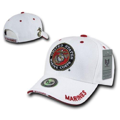 Rapid Dom White US Military Branch Logo Baseball Caps S22 Marines