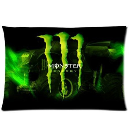 Bling For You Valentine's Day Gift cotton Pillow Cover Blue Monster ./.Energy home Decorative pillowcase Room Pillow Covers (Monster Energy Things compare prices)