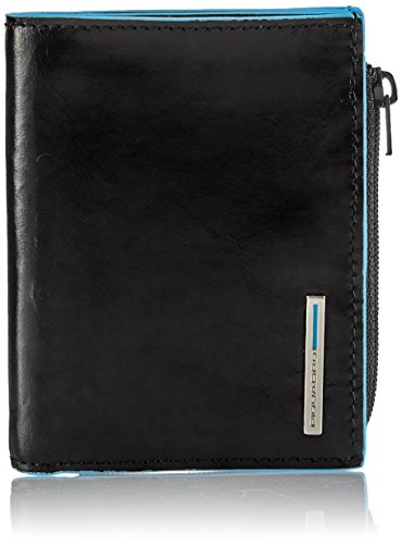 Piquadro Pocket Wallet In Leather, Black, One Size by Piquadro