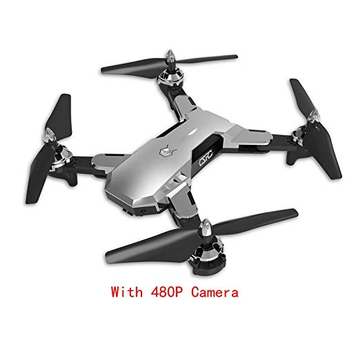 CS-7 GPS Foldable Quadcopter with 4CH 6-Axis Gyro 1080P Camera UAV Speed Adjustable Headless Mode Gravity Sensing Drones,480p Silver