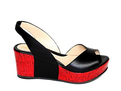 Fendi - Sandalias de vestir para mujer negro - negro