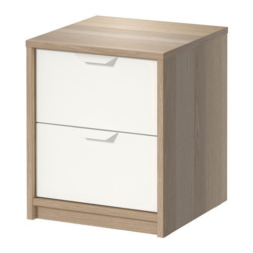 Ikea Drawer Chest, Nightstand, White Stained Oak Effect, (2 Drawer) (Wicker Furniture Ikea)