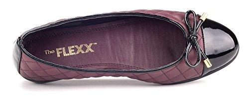 E Bordeaux Flexx Donna Ballerina Nero Riseco The qxXg8UwBx