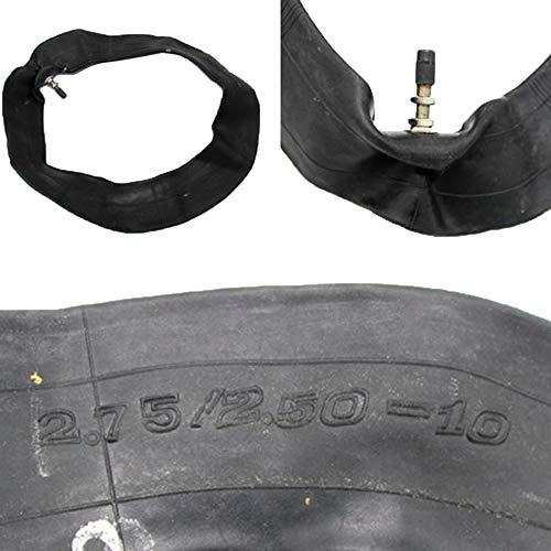 ZMW Pneumatico Anteriore 2,50 X 10 2,5-10 Anteriore con Camera dAria per Mini Dirt Pit Bike Nero